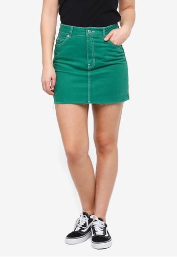 cc3d0c40ed Buy TOPSHOP Green Denim Skirt Online | ZALORA Malaysia