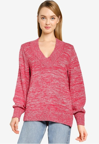 GAP pink Crossover V Neck Pullover 621E1AA3065188GS_1