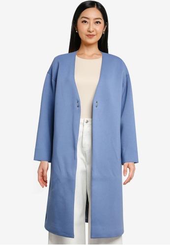 niko and ... blue Ladies Long Coat 64FA4AA8F77C8DGS_1