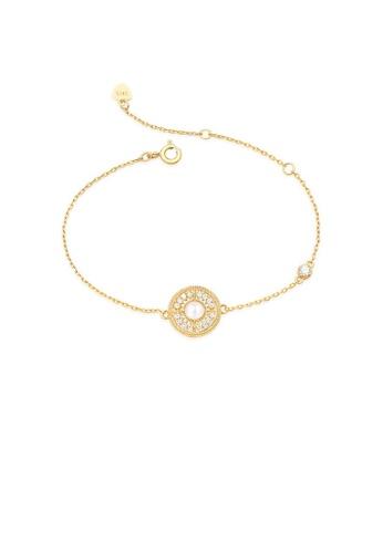 SUNSET 金色 Premium 9K Gold Pearl Bracelet 36A9FAC8DA1D0FGS_1