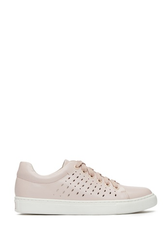 PAZZION pink Laser Cut Sneakers 97F0ASHB36CD4AGS_1