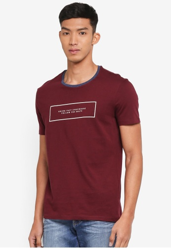 United Colors of Benetton red Slogan T-Shirt 7E04CAA675CC98GS_1