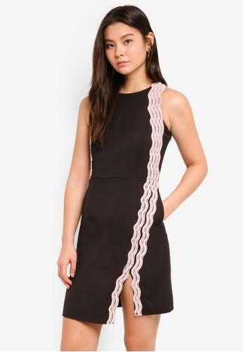 Megane black Clair Crochet Hem Dress F7D27AA07F424AGS_1