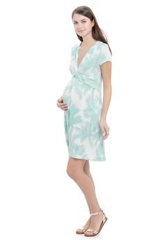 2ac02385a9e Mayarya green Biarritz Maternity and Nursing Dress 00FE3AA786E97FGS 1