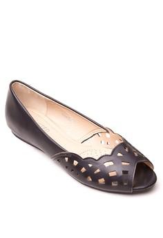 Fia Peep-Toe Flats