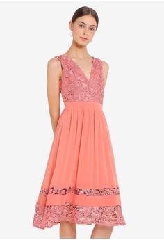 ce702e4df03 Little Mistress orange Pink Crochet Midi Dress 030E3AA42138BBGS 1