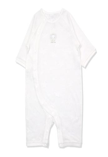 Organic mom white Organic Cotton William Elephant Onsie 8B9D7KA1A22E4AGS_1