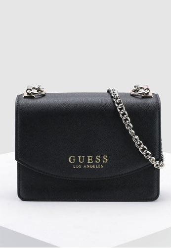 Guess black Robyn Mini Crossbody Flap Bag 4400DACA174451GS 1 53b52fc3117c5