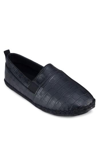 鱷魚紋仿皮麻跟鞋, 鞋, 懶人esprit outlet 香港鞋