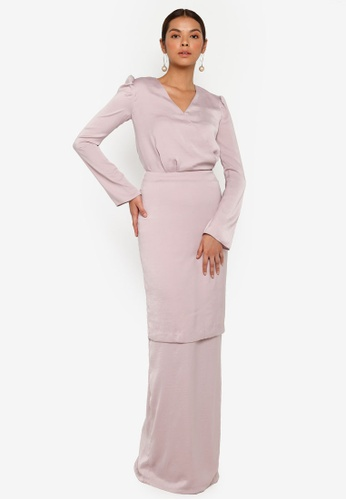3thelabel pink Briar Kurung CBC54AA291961DGS_1