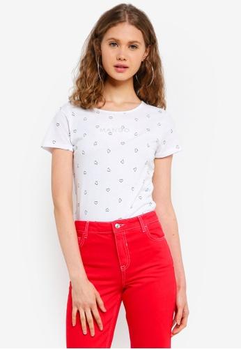 Mango white Printed Logo T-Shirt 9038EAA3591A39GS_1