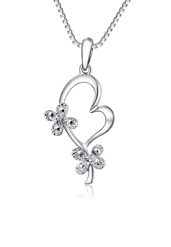 MaBelle silver 14K/585 White Color Gold Hearts Pendant Necklace B4EA5AC0ED533AGS_1