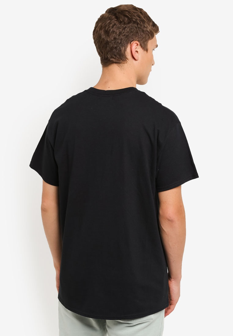 Black Rose T Topman Shirt Black Applique 7Y7rqg1