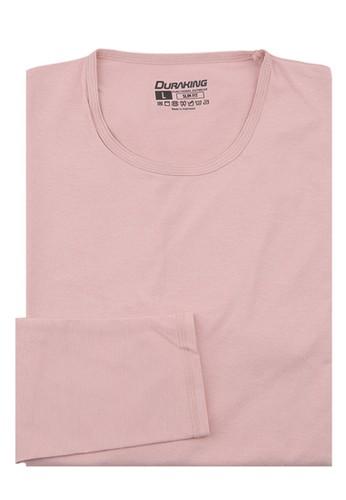 Duraking pink Duraking Kaos Curve Tee Long Sleeve Dusty Pink BA2D8AA6628AA4GS_1