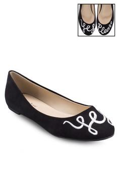 Yes Please Round Toe Ballerina Flats