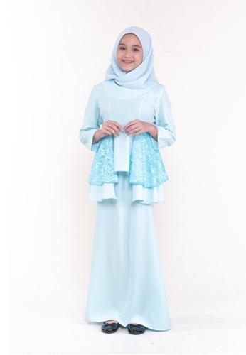 MOTHER & CHILD blue Kurung Peplum Aara Kids 6A595KAC420623GS_1