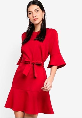 ZALORA red Ruffles Hem Dress D2056AADFEE821GS_1