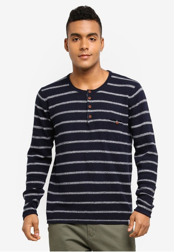 Indicode Jeans navy Kennedy Knitted Grandad Sweater 2CD02AA4886716GS_1