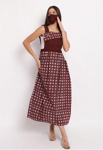 Batik Etniq Craft brown Overall Dress Batik Ailee Set Brown 8A260AA85505CEGS_1