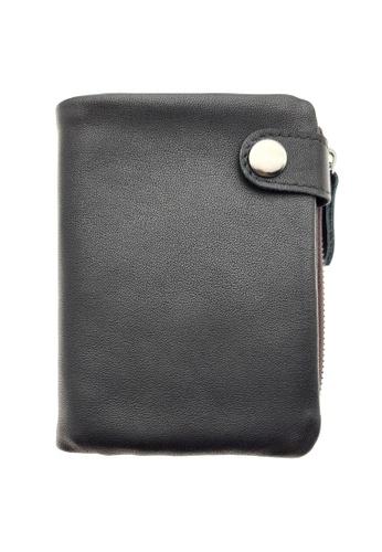 LUXORA black The Ninja Co. Multiple Wallet - Full Grain Leather Cowhide - Coin Card Purse Men Women Gift Black D77A1AC0120DE0GS_1