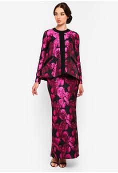 49fa119ca9c0bb Rizalman for Zalora black and pink Olivia Kurung Modern C5D57AAADB2368GS_1