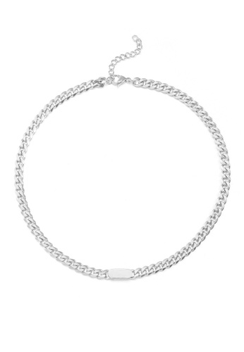 HAPPY FRIDAYS Round Card Spliced Titanium Steel Necklace DWX0845 5E748ACAC1599AGS_1