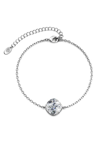Her Jewellery silver Gillian Bracelet (White)-  Made with premium grade crystals from Austria 79DAFAC57F84ACGS_1