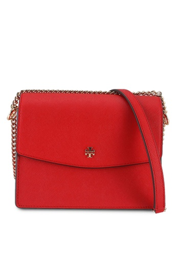 TORY BURCH red Emerson Envelope Hand Bag (NT) AF925ACADBC2A3GS_1