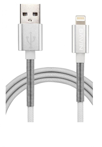 BAVIN silver Spring Fast Charging Data Cable for Iphone 5/5S/6/6S 3FA56AC2AC3FC8GS_1