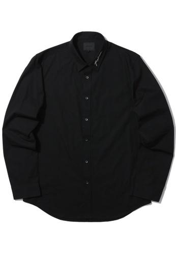 MUSIUM DIV black Dragon embroidered shirt A725DAA32BBDA5GS_1