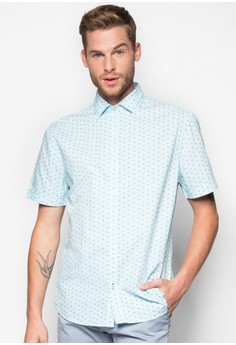 Slim-Fit Printed Cotton Shirt