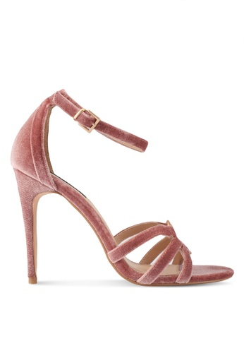 ZALORA pink Top Ringed Detail High Heels 8686ESHC61A688GS_1