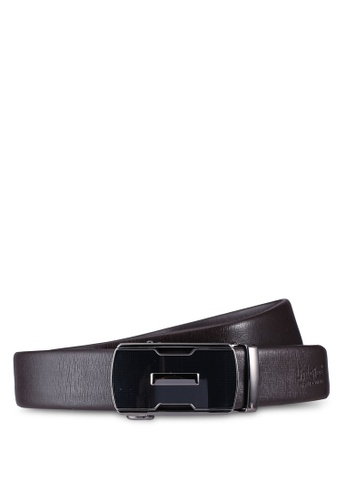 UniqTee black Dress Belt With Automatic Buckle 60A0FACFCF699EGS_1