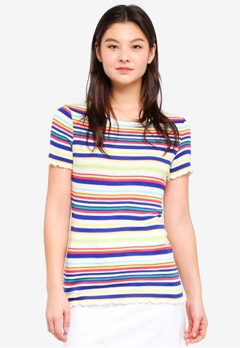 Dorothy Perkins 多色 Lettuce Edge Tshirt 2353BAAE3514B1GS_1