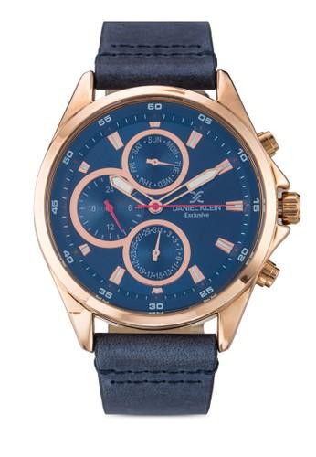44mm DK11122-7 皮革錶帶不銹鋼圓錶, 錶類, 飾品配zalora 評價件
