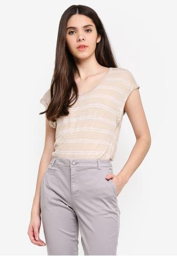 United Colors of Benetton grey Striped T-shirt DE073AAD57145FGS_1