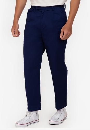 ZALORA BASICS navy Extended Band Trousers DAD1CAA94178E7GS_1