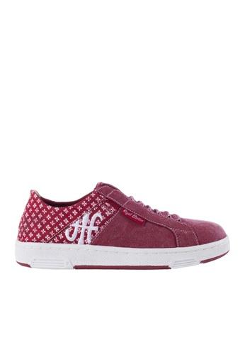 Royal Elastics 紅色 Icon Washed 帆布休閒鞋 RO796SH099IDTW_1