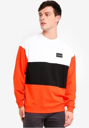 Calvin Klein 紅色 Block Institutional Rel Crew Neck Sweatshirt - Calvin Klein Jeans 43EE9AABF24FE6GS_1