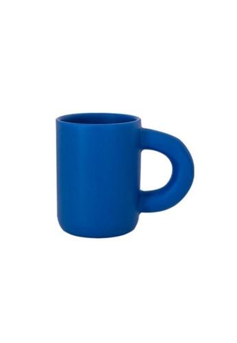 DILAS HOME Mid-century Fat Handle Mug (Blue) 49ED4HLFC4D12DGS_1