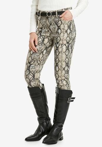 LC Waikiki beige Figured Skinny Trousers 1FA2DAA6182B3AGS_1