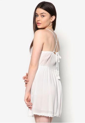 蕾絲細肩帶洋裝, zalora 內衣服飾, 洋裝