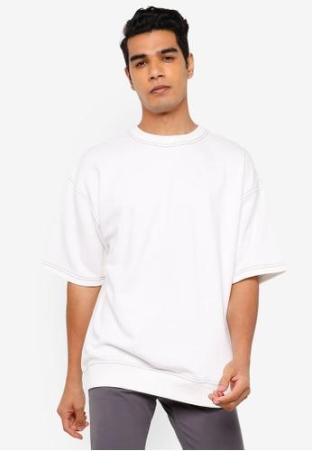 RAGEBLUE white Plain T-Shirt E97CDAA0975B60GS_1