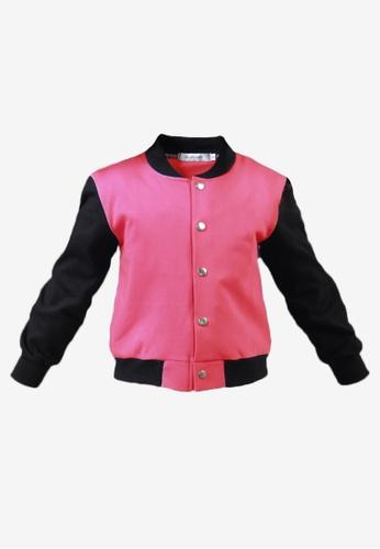 BF KIDS pink Hanna Bomber Jacket in Bubblegum B2969KA3418B3EGS_1