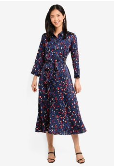 1e7aad58635 59% OFF BYSI Button Up Belted Print Dress S  83.00 NOW S  33.90 Sizes M L