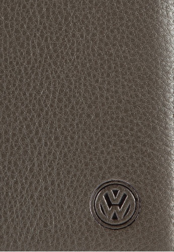 Volkswagen beige Volkswagen Genuine Leather Bi-Fold Long Wallet VO089AC25EISMY_1