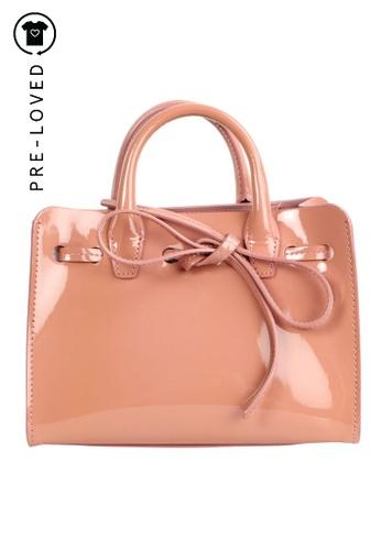MANSUR GAVRIEL pink Pre-Loved mansur gavriel Mini Sun Bag Blush Patent 7F201ACFB92E86GS_1