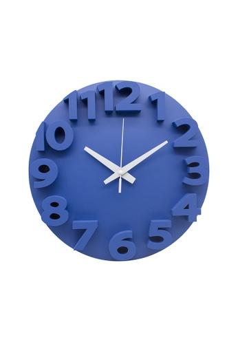 At Home blue Wayne Wall Clock C1AF2HL4D565CEGS_1