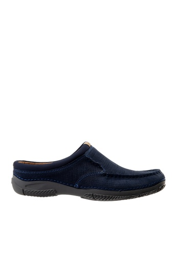 Hush Puppies navy Hush Puppies Men's Norman Mule - Navy D5BF9SHAF86E30GS_1