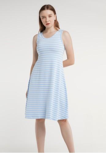 Tahlia blue Tahlia Basic Cotton Dress Daster Piyama Kaos D4956AAFE3BEB2GS_1